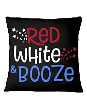 RED WHITE AND BOOZE Square Pillowcase thumbnail