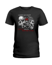 I AM CRAZY SKULL T-SHIRT  Ladies T-Shirt thumbnail