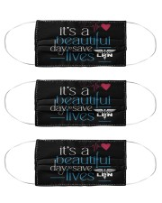 It's A Beautiful Day To Save Lives LPN Cloth Face Mask - 3 Pack front