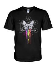RAINBOW SPHYNX CAT V-Neck T-Shirt thumbnail