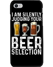 I'M SILENTLY JUDGING YOUR BEER SELECTION Phone Case thumbnail