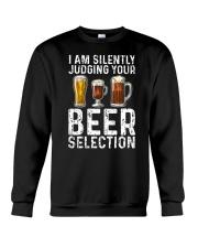 I'M SILENTLY JUDGING YOUR BEER SELECTION Crewneck Sweatshirt thumbnail