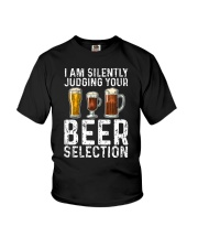 I'M SILENTLY JUDGING YOUR BEER SELECTION Youth T-Shirt thumbnail