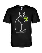 DAIQUIRI COCKTAIL CAT V-Neck T-Shirt thumbnail
