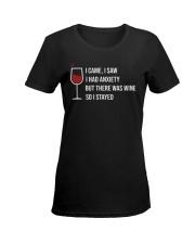 WINE I CAME T-SHIRT  Ladies T-Shirt women-premium-crewneck-shirt-front