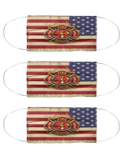 Firefighter Fire Honor Courage Rescue  Cloth Face Mask - 3 Pack front