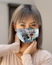 Skull flower Cloth face mask aos-face-mask-lifestyle-18