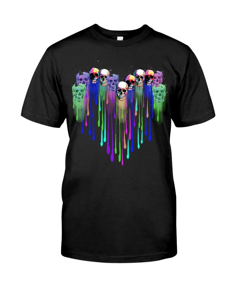 COLOR HEART SKULL Classic T-Shirt