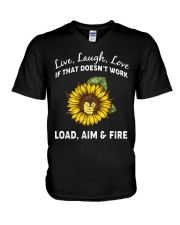 LOAD AIM FIRE V-Neck T-Shirt thumbnail