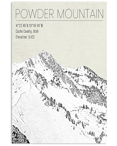 POWDER MOUNTAIN POSTER