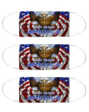 God Bless America Eagle Cloth Face Mask - 3 Pack front
