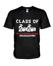 CLASS OF 2020 - GRADUARANTINED V-Neck T-Shirt thumbnail