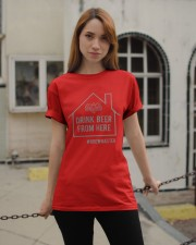 DRINK BEER FROM HERE  Classic T-Shirt apparel-classic-tshirt-lifestyle-19