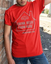 DRINK BEER FROM HERE  Classic T-Shirt apparel-classic-tshirt-lifestyle-27