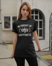 IN PURSUIT OF HOPPINESS  Classic T-Shirt apparel-classic-tshirt-lifestyle-19