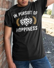IN PURSUIT OF HOPPINESS  Classic T-Shirt apparel-classic-tshirt-lifestyle-27