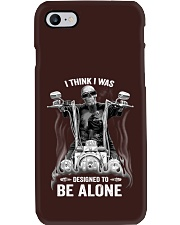 DESIGNED TO BE ALONE T-SHIRT Phone Case thumbnail