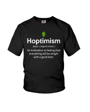 HOPTIMISM - ALRIGHT WITH A GOOD BEER Youth T-Shirt thumbnail
