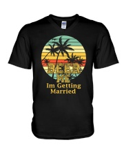 BEER ME I'M GETTING MARRIED V-Neck T-Shirt thumbnail