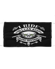 I RIDE Cloth face mask front
