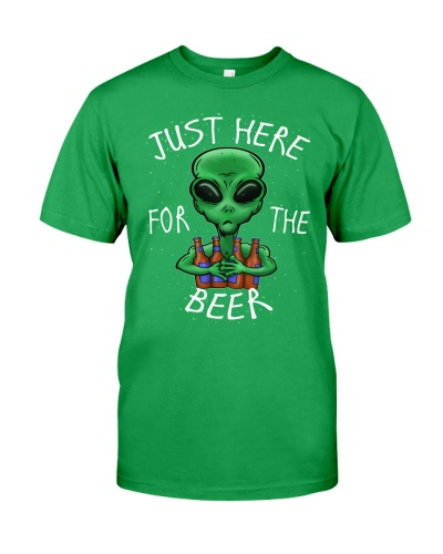 JUST HERE FOR THE BEER T-SHIRT