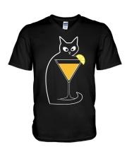 SCREWDRIVER COCKTAIL CAT V-Neck T-Shirt thumbnail