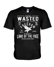 Perfect gift for Independence Day - Wasted V-Neck T-Shirt thumbnail
