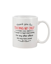 THANK YOU FOR TEACHING MY CHILD Mug front