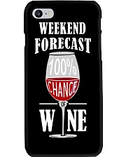 WEEKEND FORECAST - WINE Phone Case tile
