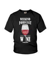 WEEKEND FORECAST - WINE Youth T-Shirt tile