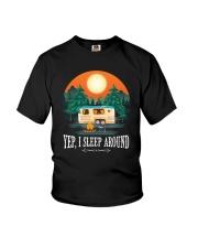 YEP I SLEEP AROUND Youth T-Shirt thumbnail