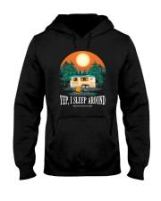 YEP I SLEEP AROUND Hooded Sweatshirt thumbnail