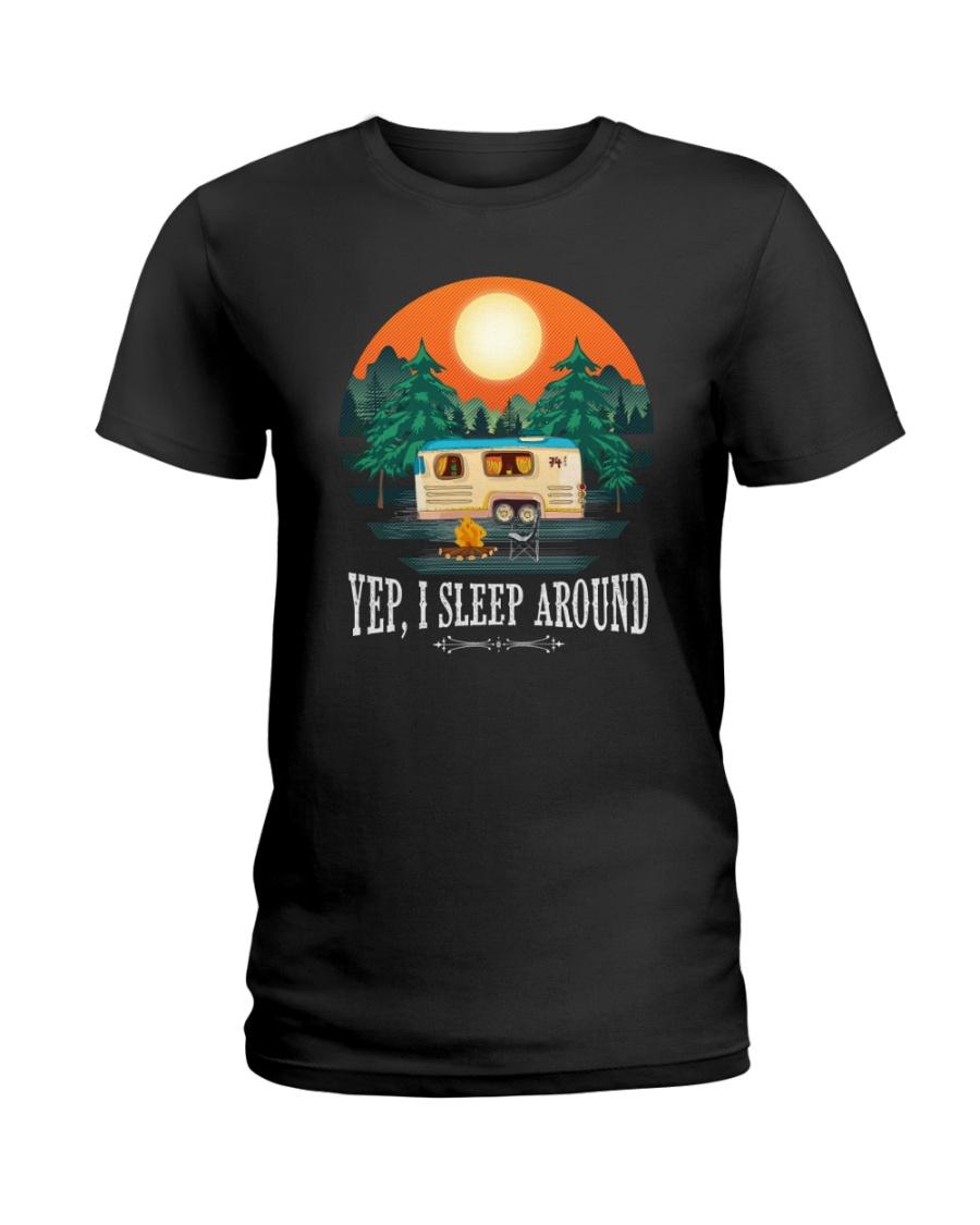 YEP I SLEEP AROUND Ladies T-Shirt