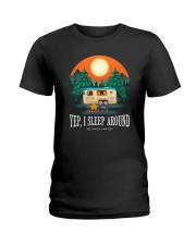 YEP I SLEEP AROUND Ladies T-Shirt front