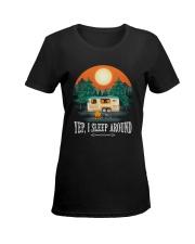 YEP I SLEEP AROUND Ladies T-Shirt women-premium-crewneck-shirt-front