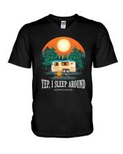 YEP I SLEEP AROUND V-Neck T-Shirt thumbnail