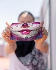 SUGAR SKULL GIRL 2 Cloth face mask aos-face-mask-lifestyle-07