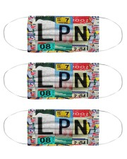 LPN Number Plate Cloth Face Mask - 3 Pack front