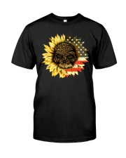 NTMH - AMERICA FLOWER SKULL  Classic T-Shirt front