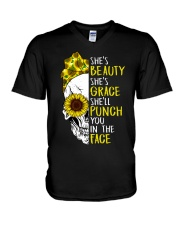 BEAUTY AND GRACE T-SHIRT V-Neck T-Shirt thumbnail