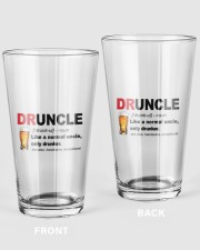 DRUNCLE 16oz Pint Glass front