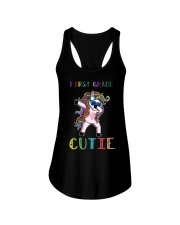 FIRST GRADE CUTIE UNICORN  Ladies Flowy Tank thumbnail