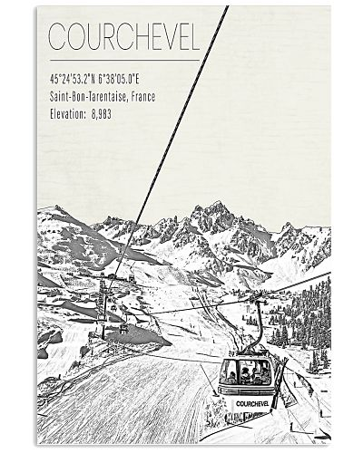 EUROPE COURCHEVEL POSTER