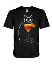 TEQUILA SUNRISE COCKTAIL CAT V-Neck T-Shirt thumbnail