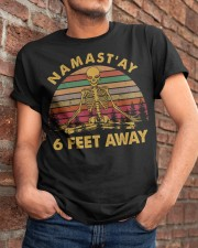 NAMASTAY 6 FEET AWAY Classic T-Shirt apparel-classic-tshirt-lifestyle-26