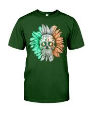 SKULL FLOWER T-SHIRT Classic T-Shirt front