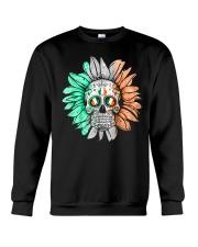 SKULL FLOWER T-SHIRT Crewneck Sweatshirt thumbnail