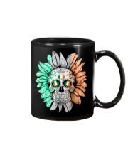SKULL FLOWER T-SHIRT Mug thumbnail