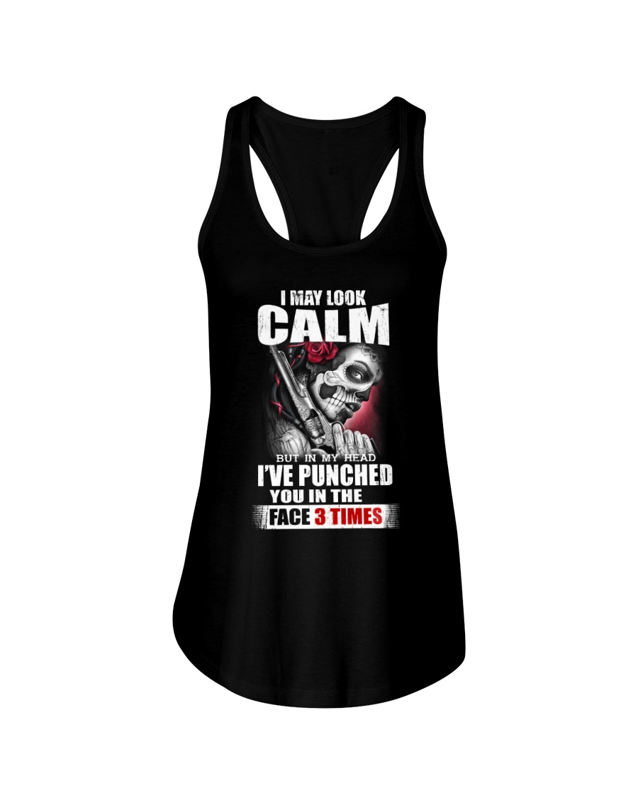 I MAY LOOK CALM Ladies Flowy Tank