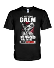 I MAY LOOK CALM V-Neck T-Shirt thumbnail
